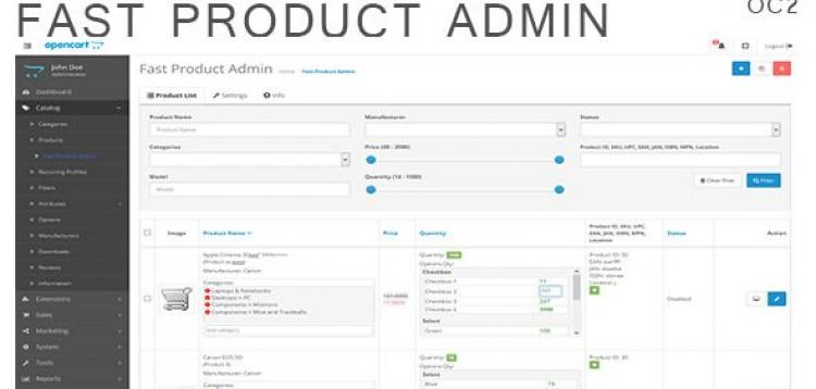 Item cover for download Fast Product Admin for OpenCart