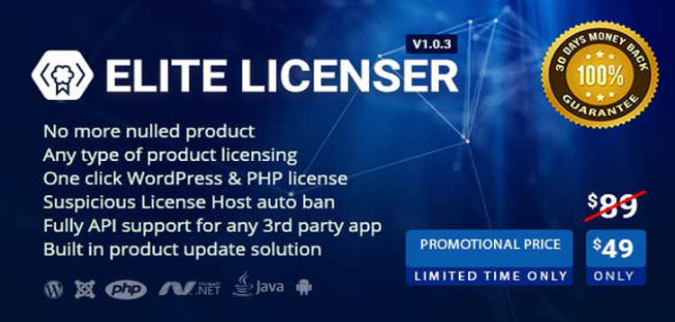 Item cover for download Elite Licenser- License Manager for Any Product