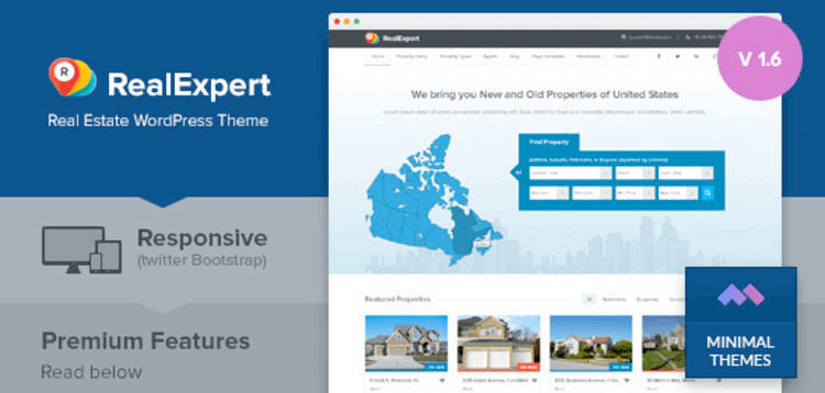 Item cover for download REAL EXPERT – RESPONSIVE REAL ESTATE AND PROPERTY LISTING WP THEME