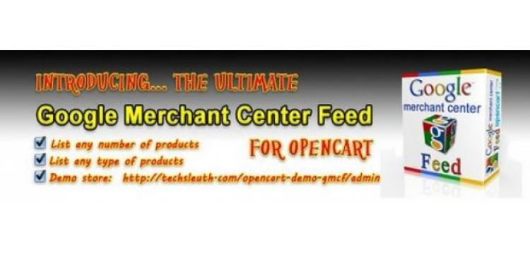 Item cover for download Google Merchant Center Feed OpenCart