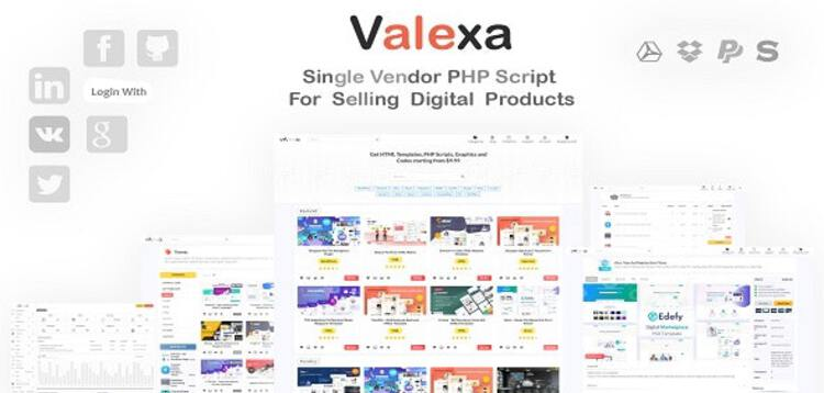 Item cover for download Valexa PHP Script For Selling Digital Products And Digital Downloads
